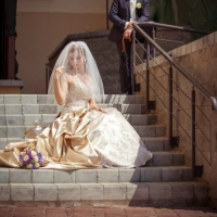 Фото: свадьба Андрея и Кати летом на природе, стиль ретро - 2
