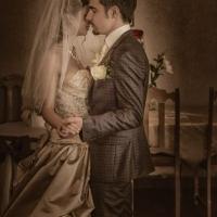 Фото: свадьба Андрея и Кати летом на природе, стиль ретро - 4