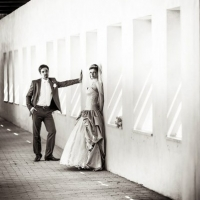 Фото: свадьба Андрея и Кати летом на природе, стиль ретро - 12