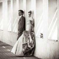 Фото: свадьба Андрея и Кати летом на природе, стиль ретро - 18