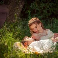 Фото: свадьба Андрея и Кати летом на природе, стиль ретро - 19