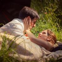 Фото: свадьба Андрея и Кати летом на природе, стиль ретро - 10