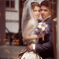 Фото: свадьба Андрея и Кати летом на природе, стиль ретро - 15