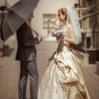Фото: свадьба Андрея и Кати летом на природе, стиль ретро - 14
