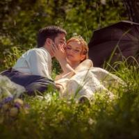 Фото: свадьба Андрея и Кати летом на природе, стиль ретро - 17