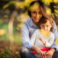 ОСЕННЯЯ ФОТОСЕССИЯ МАМЫ С РЕБЕНКОМ