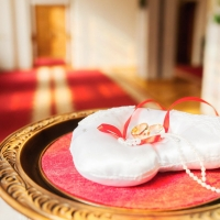 Яркая осень в свадебной фотосессии Сергея и Любы