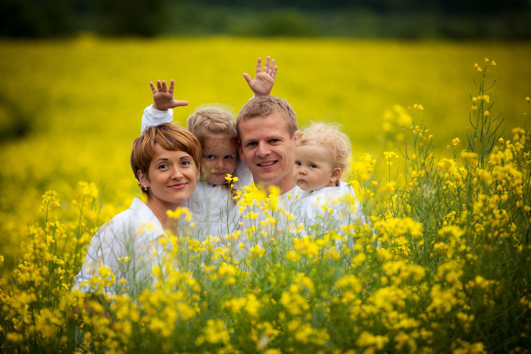 Семейная фотосессия на природе с детьми - проведение
