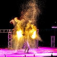 Фаер-шоу, огненное шоу, фотосессия выступлений артистов