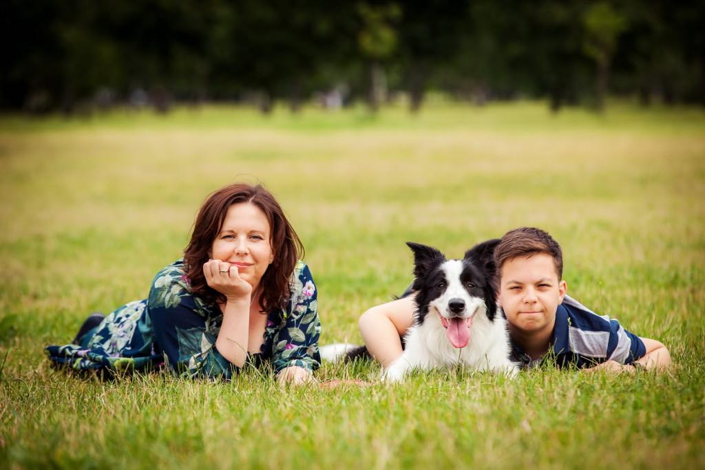 семейная фотосессия с животными