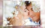 свадебное фото на холсте