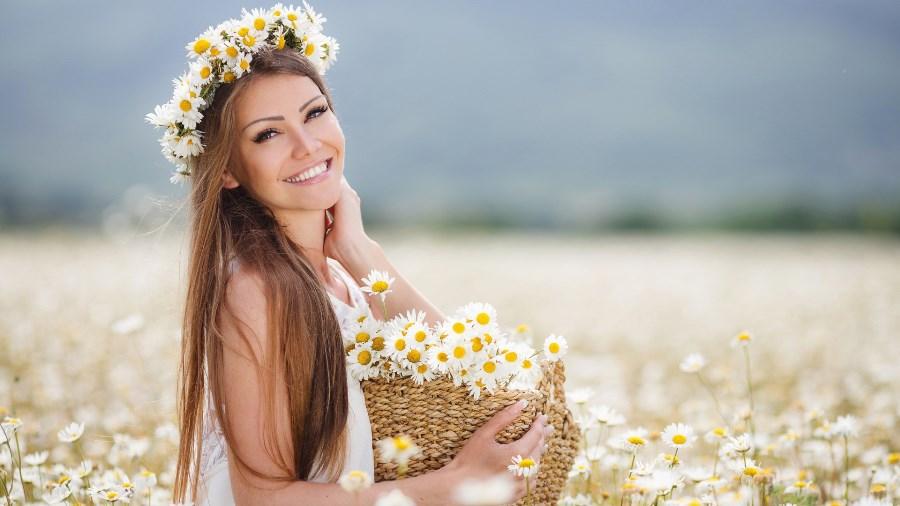 Фотосессия с венком из цветов