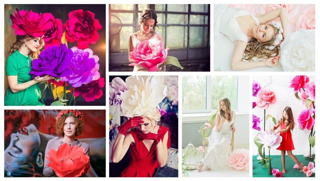 Как сделать фото с цветами в руках