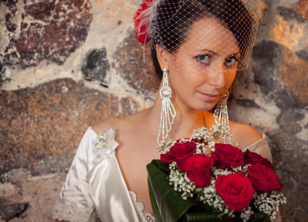 Фотосессия с цветами в руках
