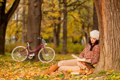 Осенняя фотосессия с велосипедом