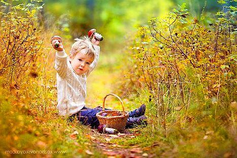 Осенняя фотосессия с грибами