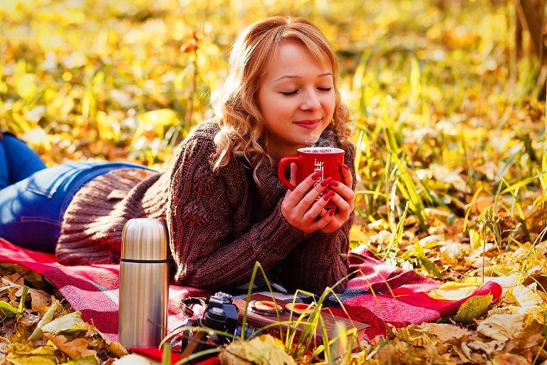 Осенняя фотосессия с чаем