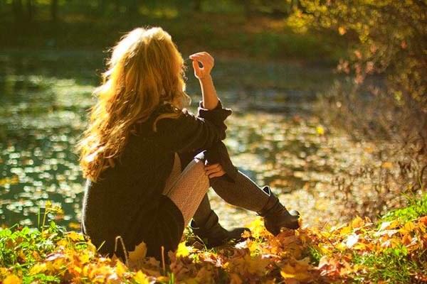 Осенняя фотосессия у воды