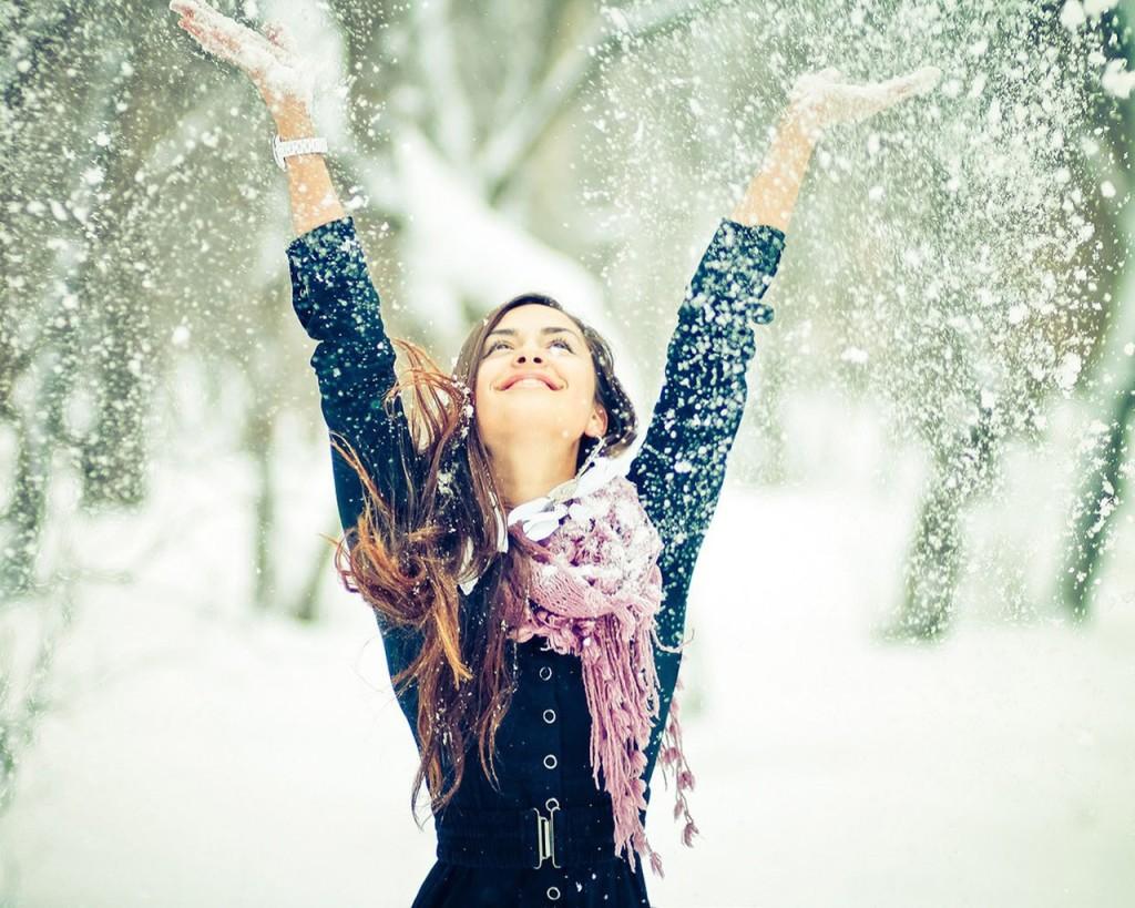 Зимняя фотосессия девушек