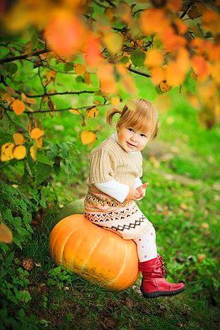 Осенняя фотосессия с тыквой