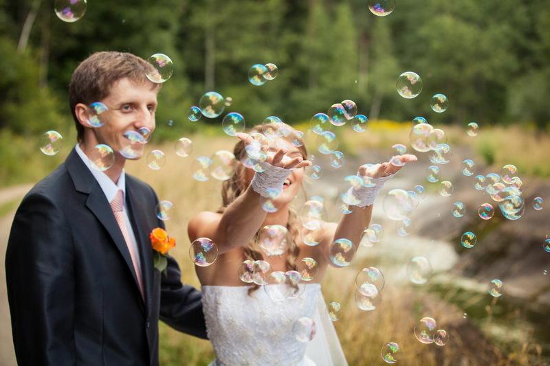 Осенняя фотосессия с мыльными пузырями