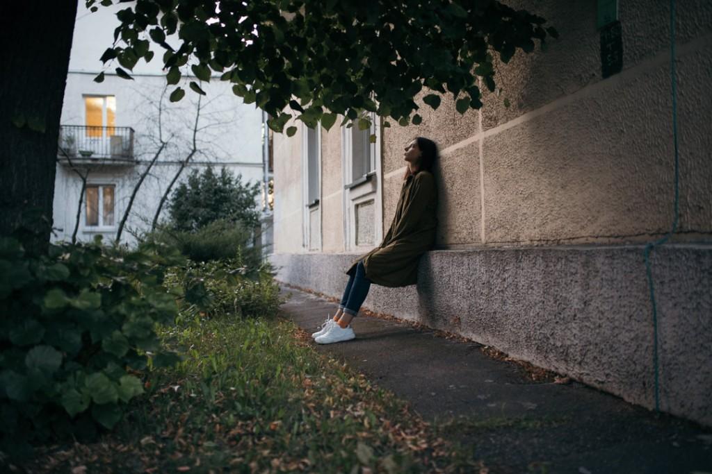 фотосессия девушки на улицах города Минска