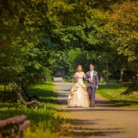Фото: свадьба Андрея и Кати летом на природе, стиль ретро - 6