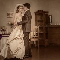 Фото: свадьба Андрея и Кати летом на природе, стиль ретро - 8