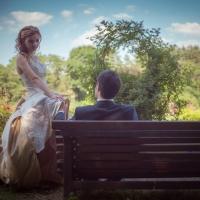 Фото: свадьба Андрея и Кати летом на природе, стиль ретро - 11