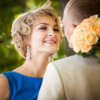 Свадебные фотографии Константина и Натальи «Васильковое настроение»