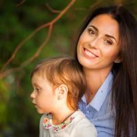 Семейная осенняя фотосессия - Таня и Маргарита