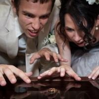 Прикольные свадебные фото невесты и жениха