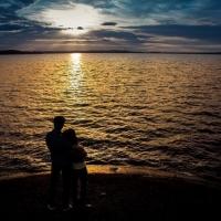 Фотосессия на закате пар, съемка для двоих, фотосъемка влюбленных